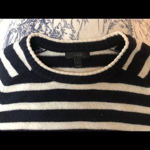JCrew navy striped sweater